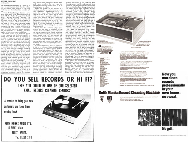 Keith Monks Record Cleaning Centres