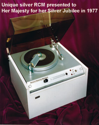 A special silver Record Cleaning Machine was presented to the Queen for her Silver Jubilee in 1977